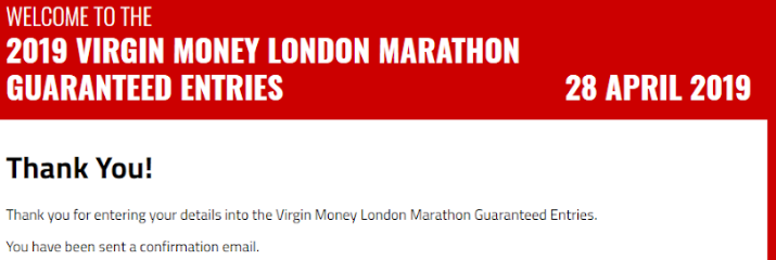 London Marathon Update #1: 600meters